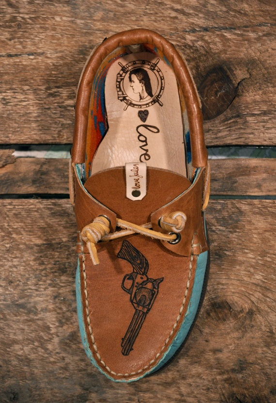 I don't even like boat shoes but I mean these have guns on them.