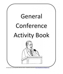 Great kids activities for General Conference