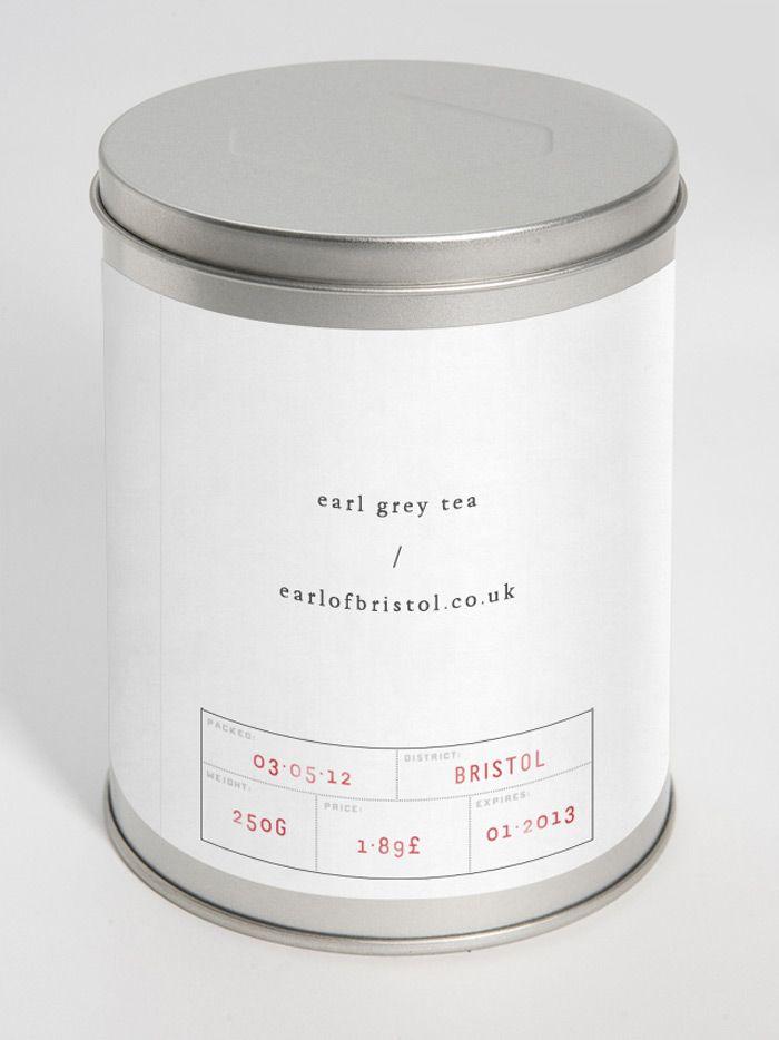 Earl grey tea - I am really drawn to this minimal design