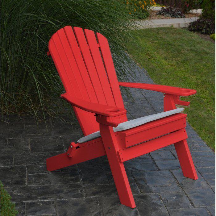 Aryana Plastic Folding Adirondack Chair Recycled Plastic