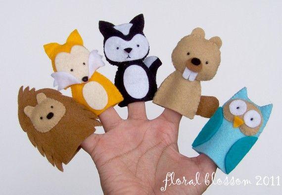 finger puppet pattern: Woodland Animal, Felt Fingers Puppets, Creatures 01, Fingers Puppets Patterns, Woodland Creatures, 01 Felt, Pdf Patterns, Animal Fingers, Felt Animal