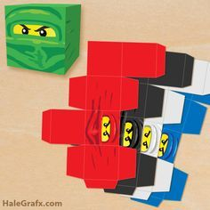 Click here to download a FREE Printable LEGO Ninjago Treat Box Set!