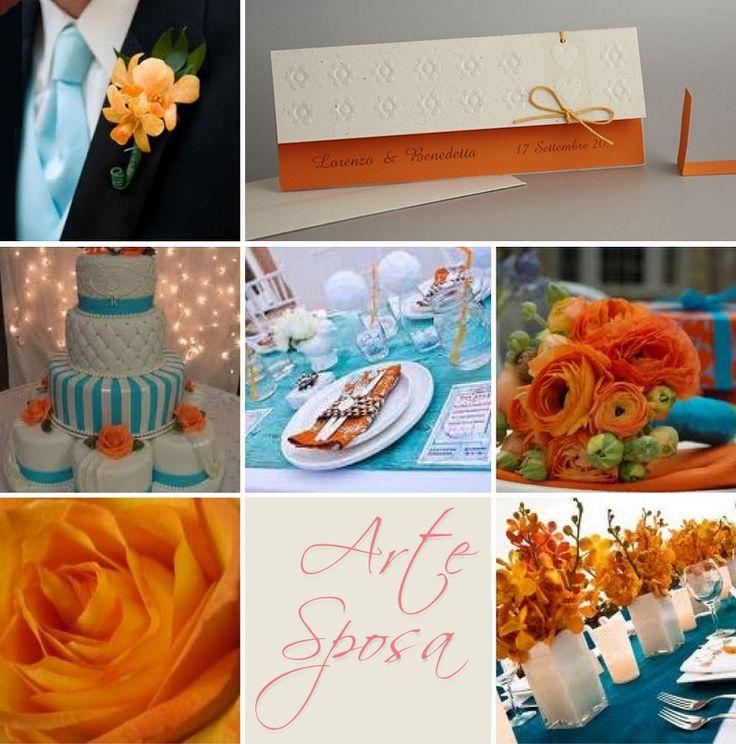 Arancio e azzurro per i matrimoni estivi e di inizio autunno con la Partecipazione N.114. Maggiori info qui: http://goo.gl/YbkhOZ.