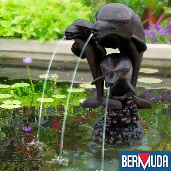 Bermuda Pool Side Ornaments   Three Dolphins Bronze Effect Spitter. Find  This Pin And More On Water Features U0026 Fountains ...