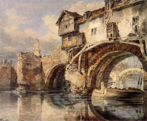 JMW Turner, Welsh Bridge at Shrewsbury. on ArtStack #jmw-turner #art