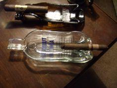 Cigar liquor bottles