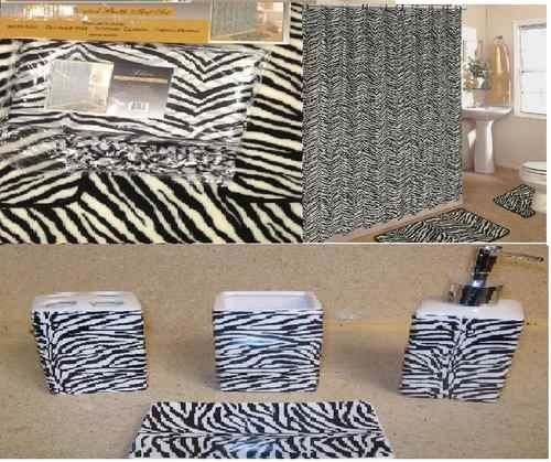 19pcs Bath Accessory Set lovely white zebra print bathroom rugs shower curtain >>> Read more  at the image link. Note:It is Affiliate Link to Amazon.
