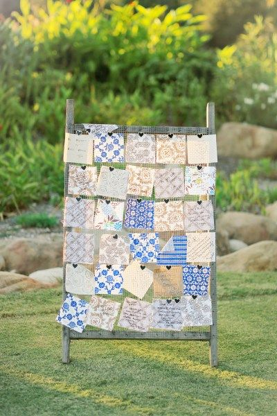 I like how they have the quilt pieces hanging. Wedding Guest Book Quilt, Small Throw, YOU Pick Fabric colors, ALL NATURAL, fresh modern handmade-Quilts Patchwork throw modern quilts quilt...
