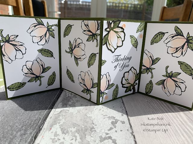 Good Morning Magnolia Fancy Fold Card Stampers Showcase border=