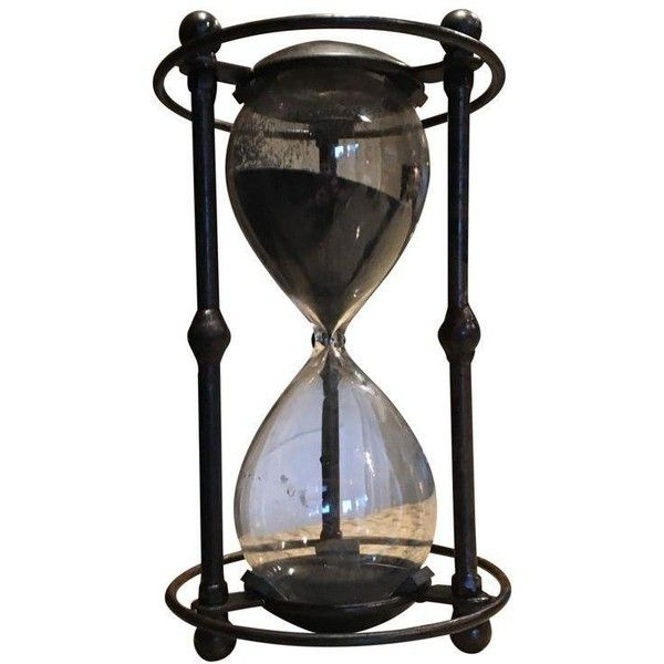 Vintage Steampunk Black Sand Hourglass (5,885 DOP) ❤ liked on Polyvore featuring home, home decor, curiosities, black sand hourglass and black home decor