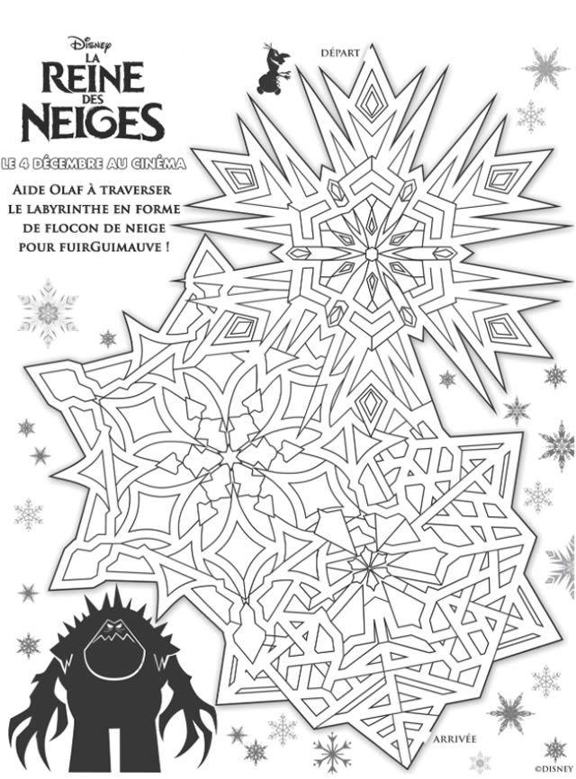 activite reine des neiges Coloriages et cahier dactivités : La Reine des Neiges de Disney