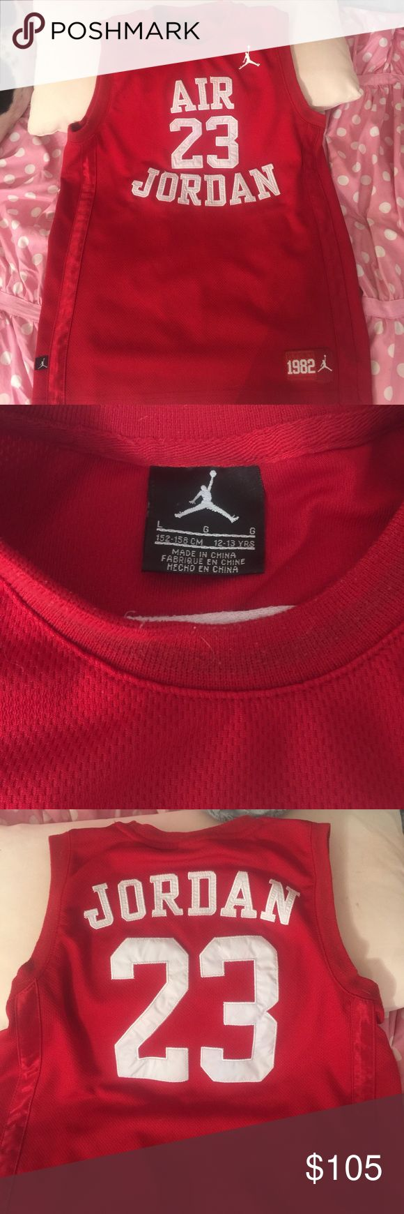 Michael Jordan youth large awesome shirt Like new Michael Jordan basketball shirt. Youth large. Usually fits 12-14 years old. MBA Shirts & Tops Tees - Short Sleeve