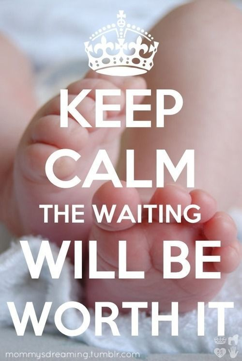 Keep calm, the waiting will be worth! #infertility #fertility #IVF…