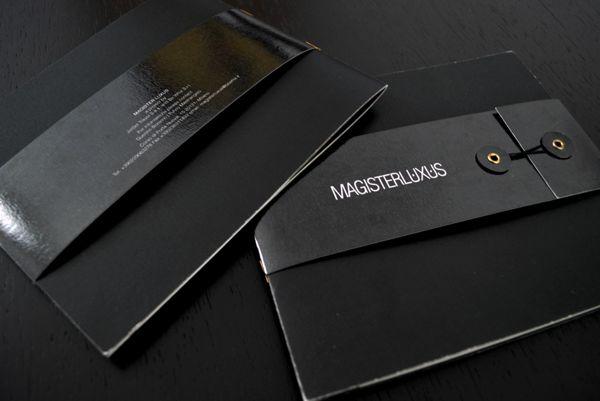 Magister Luxus - Branding by Matteo Zilio, via Behance