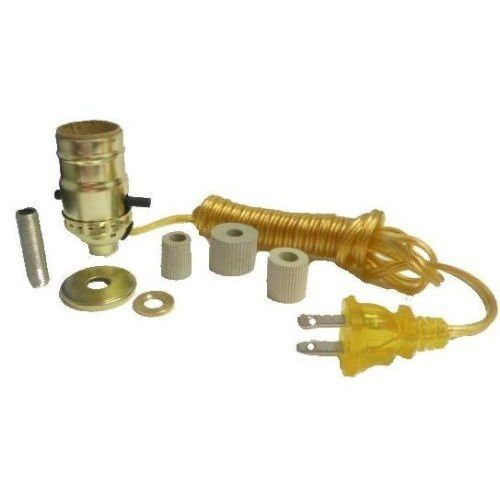 DIY Bottle Lamp Making Kit   Brass Socket With A Gold Cord. This Kit Comes  With All Of The Components Required To Make A Lamp Out Of A Keepsake Wine  Or ...