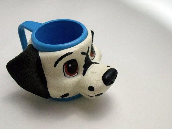 Vintage 101 Dalmatians Puppy Dog Blue Plastic Kids by OkieWomen