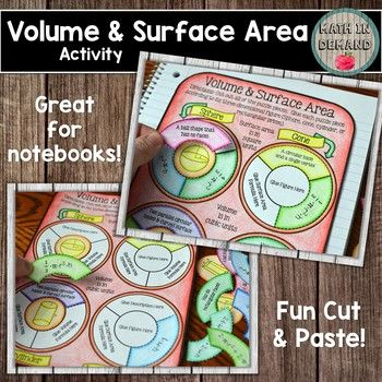 Volume and Surface Area Activity (Great for Math Interacti