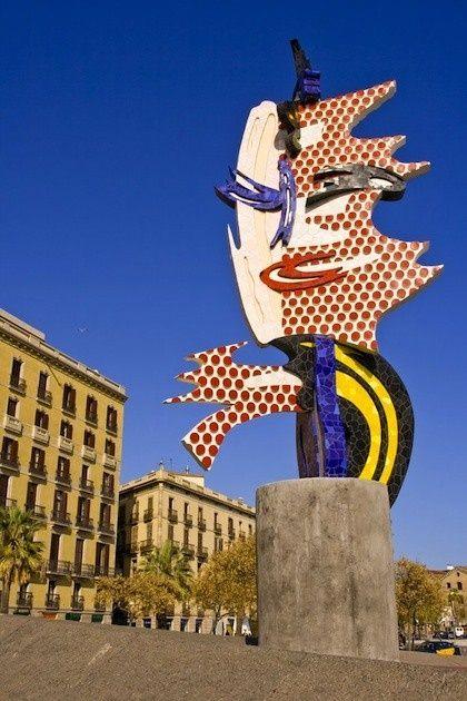 """Barcelona Head"", Roy Lichtenstein, 1992, Jeux Olympiques de Barcelone"