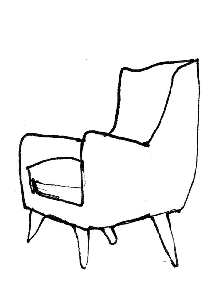72 Reference Of Chair Drawing Easy In 2020 Chair Drawing Drawing Furniture Art Chair