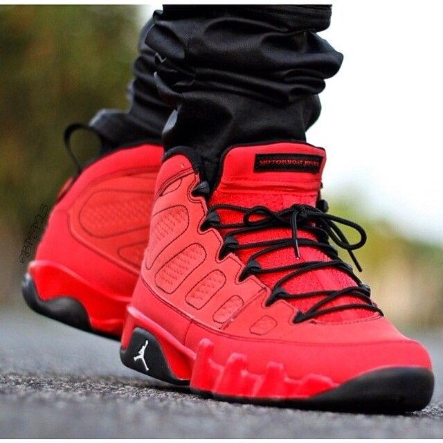 separation shoes 547e2 2d864 jordan 9 all red