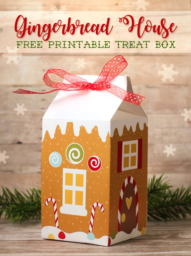 The Craft Patch: Gingerbread House Treat Box Free Printable and Cut File