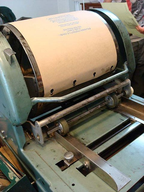 Remember the mimeograph machine with the purple ink? Crank the handle and presto - a single page appeared!