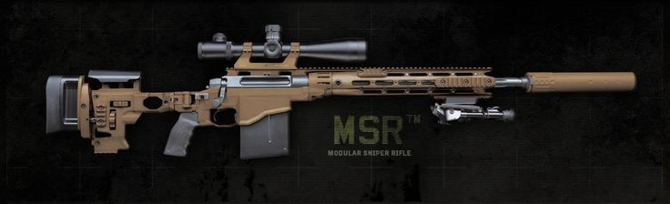 Remington Modular Sniper Rifle (MSR) was designed for operators by operators. It combines lethal accuracy at 1500 meters with a user adjustable folding stock, free-float handguard, and the potential to change barrel lengths and calibers within minutes at the user level from .338 Lapua Magnum to .300 Win Mag to 7.62 NATO.