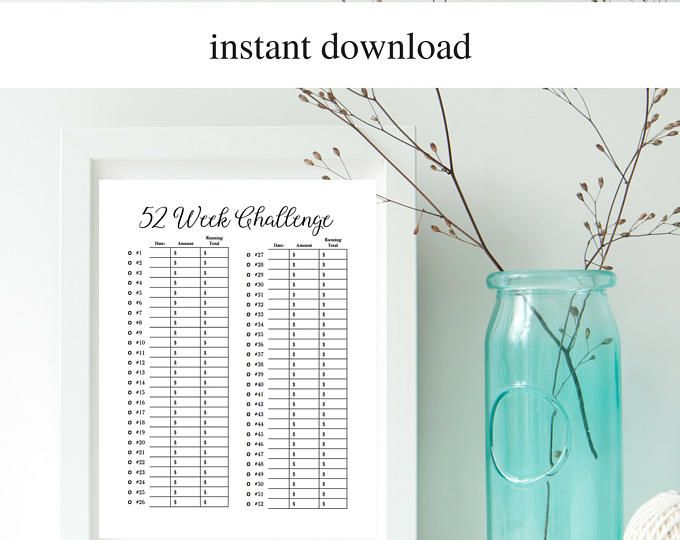 The 25+ best Weekly savings chart ideas on Pinterest | Saving ...