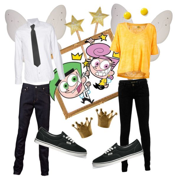 """""""Cosmo and Wanda from The Fairly Oddparents"""" by caecapiz on Polyvore"""