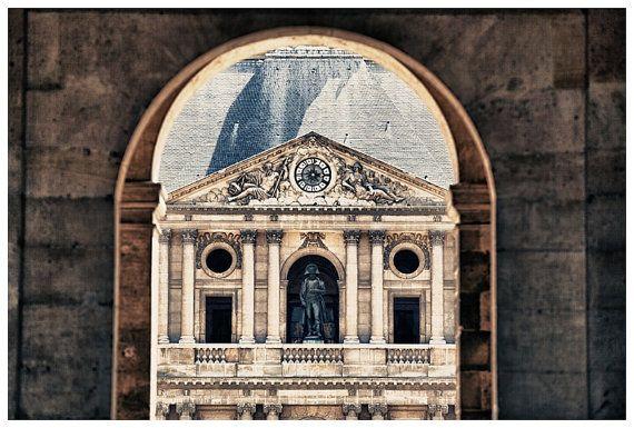 Paris Travel Photography, Les Invalides, France Metallic Photographic Print