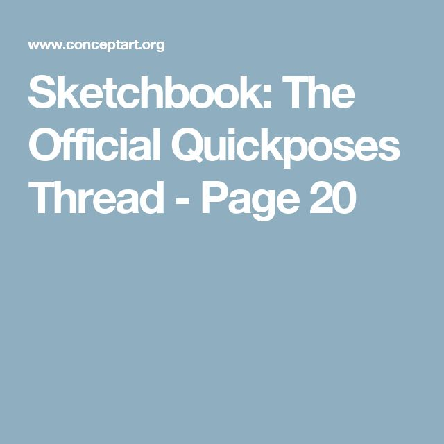 Sketchbook: The Official Quickposes Thread - Page 20