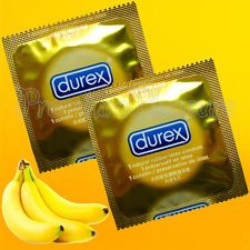 Durex Select Flavors Fruit Banana Flavored Condoms Yellow IN Color Taste ME | eBay