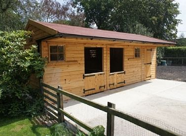 small horse stables | small stable block felt shingle roof this stable block includes two 3m ...
