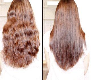 une astuce naturelle et facile pour lisser ses cheveux mme sils sont trs longs - Colorer Ses Cheveux Naturellement