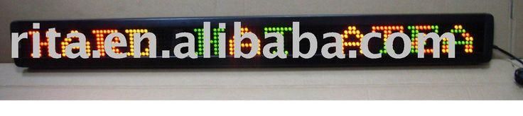Красный и зеленый одна линия из светодиодов движущихся знак, 8 символов с 53 мм высокое шрифт ; P7.62mm ; разрешение пиксела : 7 * 50 ; 100 * 440 * 34 мм ( HH * WW * DD )