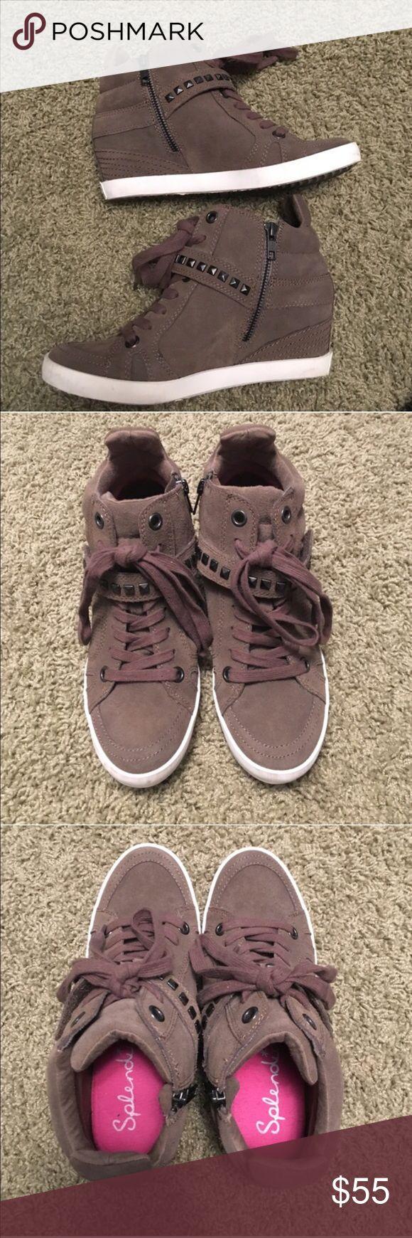 Splendid Hayden Wedge sneaker Only worn twice. In great condition as seen in photos. Splendid Shoes Sneakers