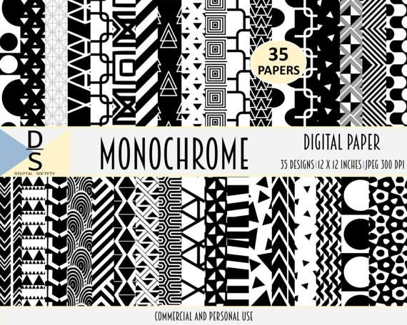 35 commercial use digital papers digital paper monochrome