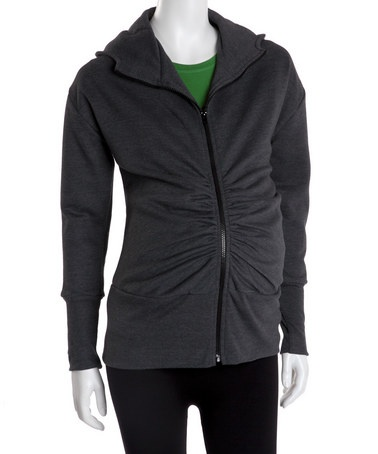 Take a look at this Dark Gray Maternity Hoodie by Blow-Out on #zulily today!