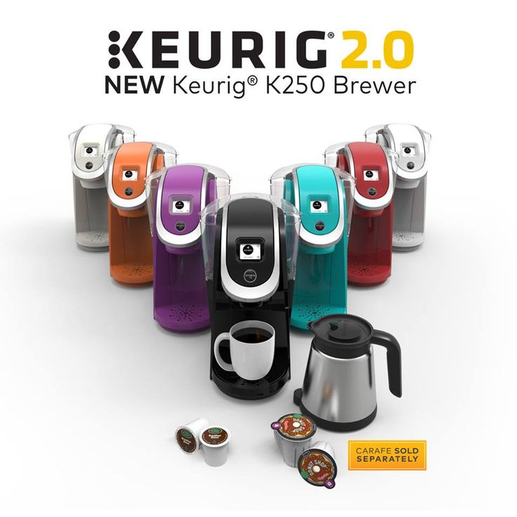 We designed the new Keurig K250 brewer to be our most compact, affordable, Keurig 2.0 brewer yet. Packed with all the features of Keurig 2.0 technology, you can brew your favorite K-Cup pods your way - you can even choose a color to match your taste!