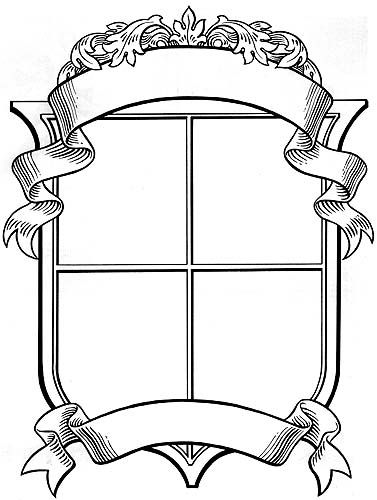 blank coat of arms banner - photo #4