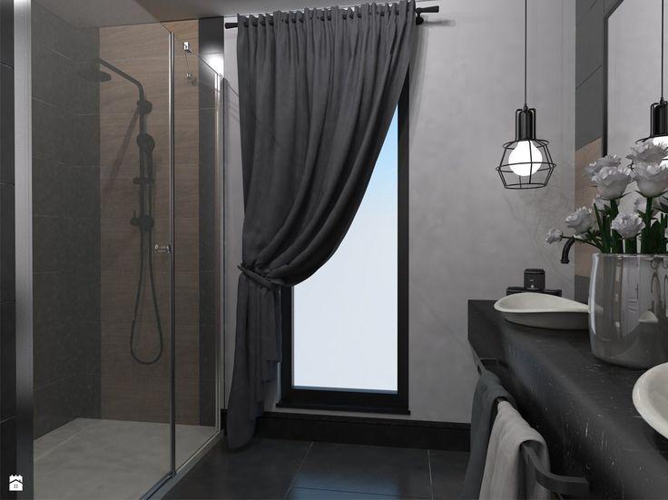 Widok na prysznic i umywalki - zdjęcie od Monika Szpak - Łazienka - Styl Nowoczesny - Monika Szpak