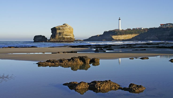 Biarritz - the beach at low tide