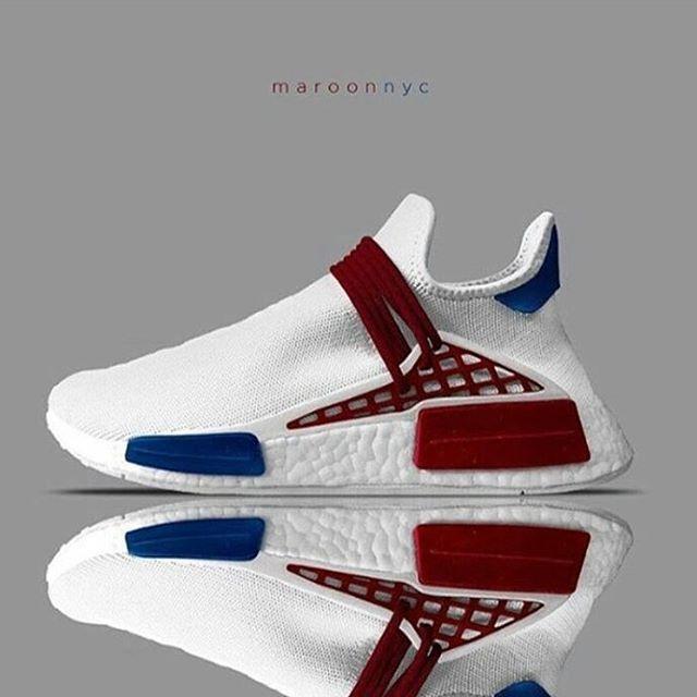 99f92b4d6660f Adidas Pharrell NMD - Pic via  maroonnyc  shoutmysneakz  brahoops ...