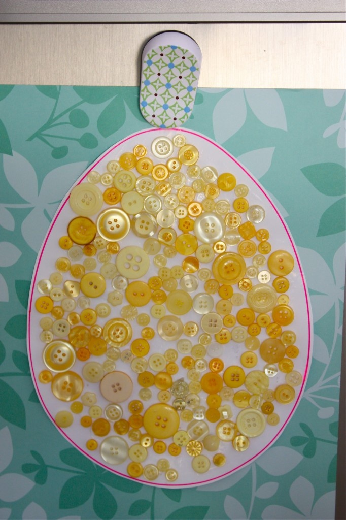 easter button craft