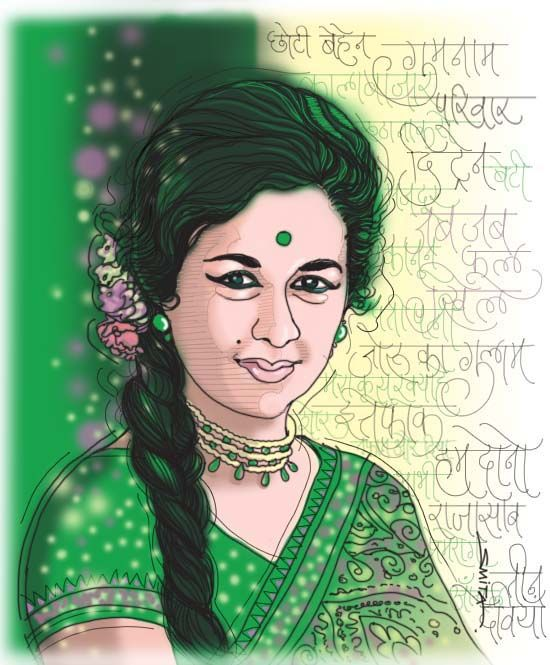 illustration- Digital -as a tribune to Bollywood old time classic actress