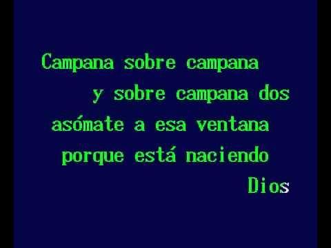 ▶ Campana Sobre Campana (Karaoke navideño) - YouTube