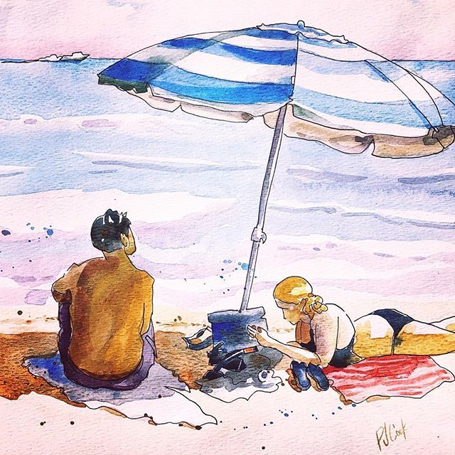 How To Paint People Painting Watercolor Art Beach Watercolor