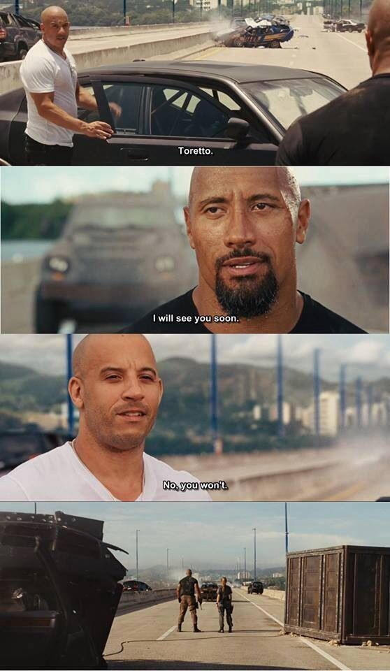 "Fast 5- Hobbs & Dom ""no you won't"""