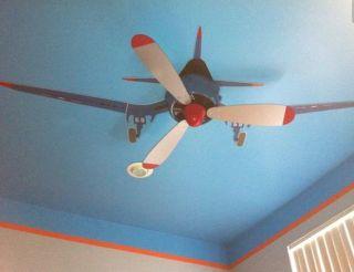 Decor quartinho de bebê aviões ventilador