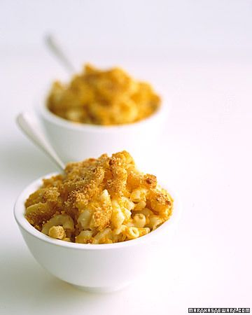 Ricotta and pureed squash give this familiar dish its creaminess -- Macaroni and Cheese with Butternut Squash Recipe